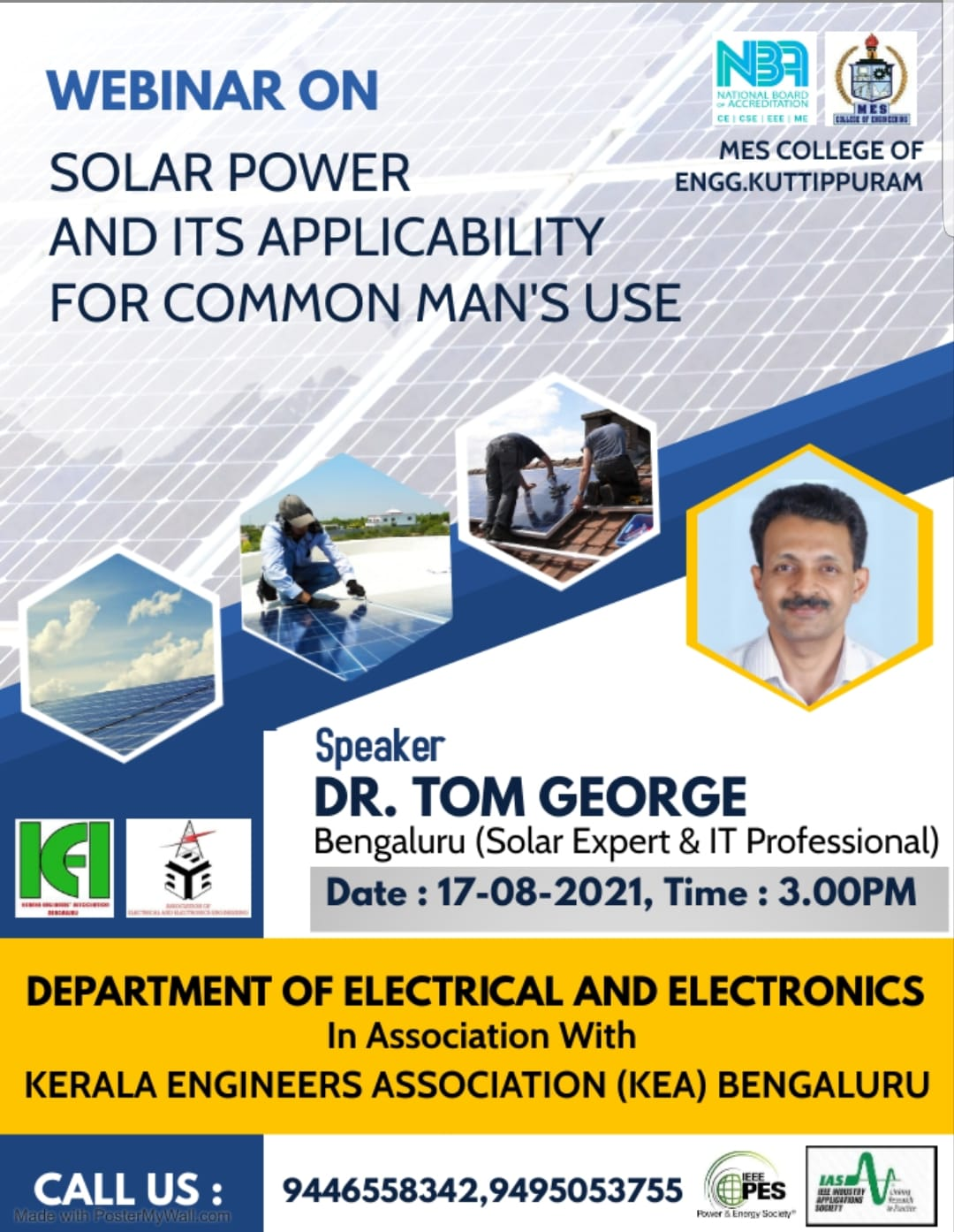 Webinar on Solar Power and its Applicability for Common Man's Use