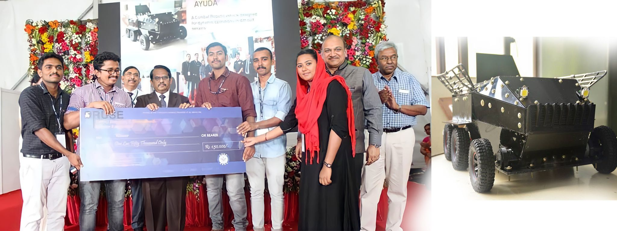 AYUDHA-Unmanned ground vehicle for Military use won first place in  DRUSE (National Level) organized byDRDO