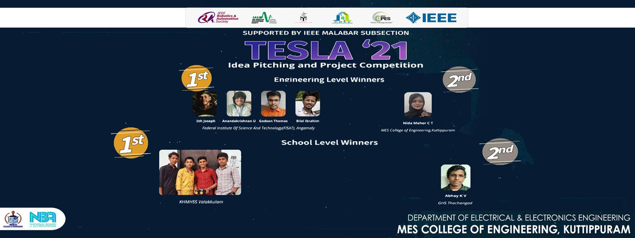 TESLA 21 WINNERS